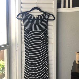 Long, striped maxi dress!